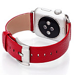 38/42mm Black Red Leather Strap Litchi Grain Fashion Stainless Steel Buckle Genuine Leather Strap for Apple Watch1/2