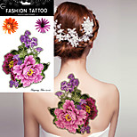 5Pcs New Design Temporary Flower Tattoos  Peony Pattern Tattoo Stickers