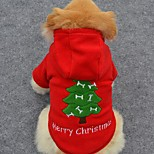 Cani Felpe con cappuccio Rosso Abbigliamento per cani Inverno Tinta unita Divertente / Vacanze / Di tendenza / Natale
