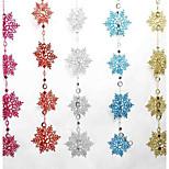 Colored Christmas Snowflake Bunch Of 2 Meters Long 10 Snowflake