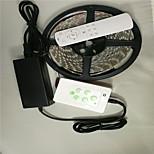 5 m LED RGB kleurrijke strip licht past kleur met muziek&draadloze bediening. met strip licht controller en de afstandsbediening
