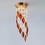 Mini Modern Leaf Crystal Downlight Fixture for Hallway