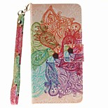 EFORCASE Colorful Flower Painted Lanyard PU Phone Case for Wiko Lenny 2