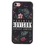 Para Diseños Funda Cubierta Trasera Funda Flor Suave TPU AppleiPhone 7 Plus / iPhone 7 / iPhone 6s Plus/6 Plus / iPhone 6s/6 / iPhone