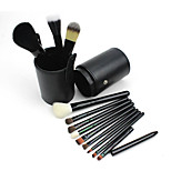 12 Makeup Brushes Set Goat Hair / Pony / Synthetic Hair Professional / Travel / Full Coverage Wood Face / Eye / Lip Others