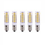 5Pcs  E14 75Led Smd2835 7w  1000Lm AC220  White Warm White Small Ceramic Corn Lamp White