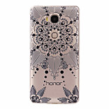Black Flowers Pattern Painted Relief TPU Material Phone Case for Hawei 5X  Y625  Y635