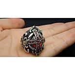 Классические кольца Рубин Драгоценный камень Титановая сталь Крестообразной формы Мода Черный Бижутерия Свадьба Для вечеринок Повседневные
