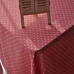 Square Polka Dots Table Cloth , Linen Material Hotel Dining Table / Table Decoration