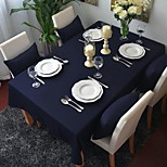 Square Solid Table Cloth  99% Cotton Material Hotel Dining Table / Table Decoration