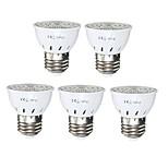 5PCS E27 5W 72 LED 2835 SMD Full Spectrum Grow Light Bulb Greenhouse Hydroponic System Veg Flowers Plants Lamp Grow Box