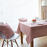 Rectangular Striped Table Cloth , Linen / Cotton Blend MaterialHotel Dining Table / Wedding Party Decoration / Wedding Banquet Dinner /