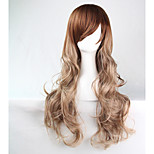 70cm Long Wavy Ombre Color Ladies Synthetic Hair Wig