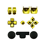 Replacement Controller Case Assembly Kit Set for PS3 Controller Golden/Silver