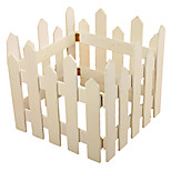 Christmas Tree Decorations Wooden Fence 4Pcs