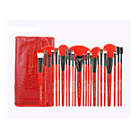 24 Makeup Brushes Set Goat Hair Full Coverage / Portable Wood Face / Eye / Lip Others
