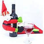 Red Wine Champagne Santa Snowman Bottle Of Bottle Thing