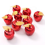 9pce Party Events Fruit Pendant Christmas Hanging Ornament Red Golden Apples Christmas Tree Decorations