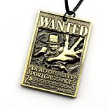 Inspired by One Piece Ace Anime Cosplay Accessories Necklace Golden / Silver Alloy