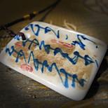 Муж. Ожерелья с подвесками Керамика Уникальный дизайн Белый / синий Бижутерия Повседневные 1шт
