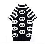 Katzen Hunde Pullover Schwarz Hundekleidung Winter Frühling/Herbst Totenkopf Motiv Lässig/Alltäglich Halloween