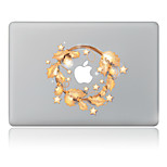 Christmas Golden Leaf Decorative Skin Sticker for MacBook Air/Pro/Pro with Retina