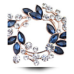 Женский Для пары Девочки Другое Броши Кристалл Pоскошные ювелирные изделия Искусственный бриллиант Австрийские кристаллы Бижутерия