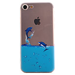 For iPhone 7 7 Plus 6S 6 Plus SE 5S Case Cover Dolphin Pattern High Permeability Painting TPU Material Phone Case