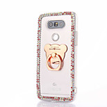 For LG G5 G4 K10 Rhinestone Case Back Cover Case Cartoon Hard PC For LG K7 LG K4 LG G3 LG V10 V20