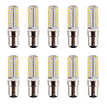 3.5 B15 Luces LED de Doble Pin BA 64 SMD 2835 240-260LM lm Blanco Cálido / Blanco Fresco Regulable / Decorativa / Impermeable V 10 piezas
