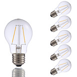 2W E26 LED Filament Bulbs A17 2 COB 200 lm Warm White Dimmable 120V 6 pcs