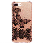 Para IMD / Estampada Capinha Capa Traseira Capinha Borboleta Macia TPU AppleiPhone 7 Plus / iPhone 7 / iPhone 6s Plus/6 Plus / iPhone