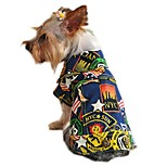 Cat Dog Denim Jacket/Jeans Jacket Dog Clothes Winter Spring/Fall Jeans Fashion Holiday Yellow Light Blue Multicolor