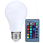5w e27 conduit ampoules globe rgb dimmable 24key changering 16 couleur télécommandée lampe led (AC85-265V)
