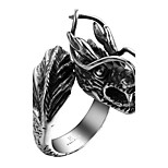 GMYR116 New Listing Retro Domineering Dragon Head Punk Ring 316L Stainless Steel Titanium Easter Halloween Jewelry