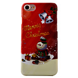 For  iPhone 7 7 Plus 6s 6Plus SE 5S Case Cover Christmas Series Snowman Pattern Painting Oil Level Skin-Friendly PC Material