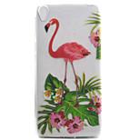 For Xperia E5 XA XZ Case Cover Flamingo Pattern High Permeability Painting TPU Material Phone Case