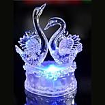 ledde kristall två svan färgrik dekoration atmosfär lampa nyhet belysning jul ljus