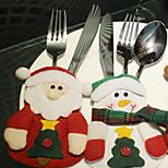 padrão 3pcs natal produtos Santa mesa Noel saco de mesa é aleatório