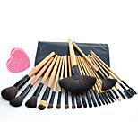 24(pcs) Makeup Brushes Set Professional Blush/Powder/Foundation/Concealer Brush Shadow/Eyeliner Brush With Pink Wash Egg
