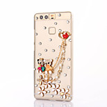 For Huawei P9 Plus Lite P8 Rhinestone Case Back Cover Case Bear Hard PC Honor 8 7 6 6Plus 5C 5X 4X 4C 4A Mate 9 8 7