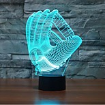 gants touchez gradation 3d conduit de lumière de nuit lampe atmosphère décoration 7colorful éclairage nouveauté lumière de Noël
