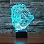 guanti di toccare oscuramento 3D LED luce di notte 7colorful lampada atmosfera decorazione di illuminazione novità luce di natale