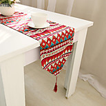 Rectangular Patterned / Embroidered / Floral Table Runner , Cotton Blend Material Hotel Dining Table / Table Decoration