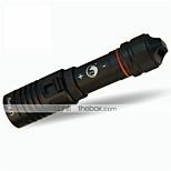 תאורה פנסי צלילה LED 1200LM Lumens 1 מצב קריס XM-L2 18650 מיקוד מתכוונן / עמיד למים / גודל קומפקטי צלילה/ שייט / חוץ סגסוגת אלומניום