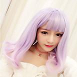 Sweet Lolita Color Gradient Curly Light Purple Lolita Wig 45 CM Cosplay Wigs For Women