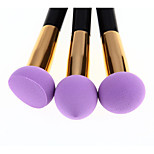 3 Foundation Brush Synthetic Hair Wood Face Others