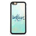 Believe Design Metal CoatedTPU Frame Back Case for iPhone 7 7 Plus 6s 6 Plus SE 5s 5c 5 4s 4
