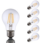 4W E26 LED Filament Bulbs A19 4 COB 350 lm Warm White Dimmable 120V 6 pcs
