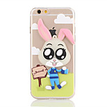 For Glow in the Dark Translucent Case Back Cover Case Cartoon Soft TPU Apple iPhone 7 Plus  iPhone 7  iPhone 6s 6  iPhone SE 5s 5